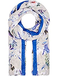 HALLHUBER Exotic print and stripe scarf