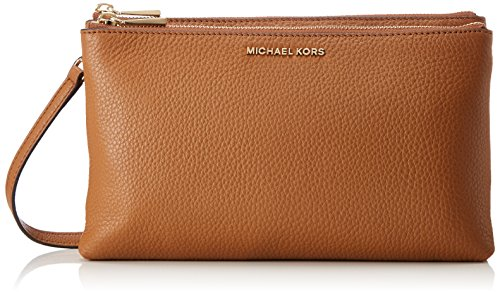 - 51WDDa1Lu6L - Michael Kors Womens Adele Dbl Zip Crossbody Cross-Body Bag Brown (Acorn)