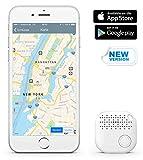 Qwer® App Schlüsselfinder / Key Finder (weiß), NEUE VERSION 2 | 3x lauter | Schlüssel, Handy, Fernbedienung, Portmonee sofort finden: Mit dem verbesserten iTrack sparen Sie kostbare Zeit und schonen Ihre Nerven |perfektes Geschenk / Geschenke| Smartphone Bluetooth-GPS-Kopplung