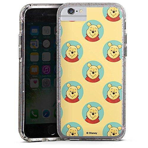 Apple iPhone X Bumper Hülle Bumper Case Glitzer Hülle Disney Winnie Puuh Fanartikel Zubehoer Bumper Case Glitzer rose gold