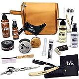 Kit/Set/Coffret d'entretien et de soin pour barbe et rasage avec Soin de barbier   Cosmetique Made in France  BARBER TOOLS