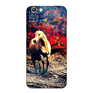 CrazyInk Premium 3D Back Cover for Oppo A57 - HORSE