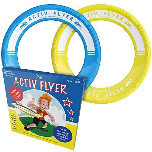 Activ Life Best Kids Wurfringe, Frisbee [Gelb/Cyan] Junge Mädchen ab 3 Jahren, Geburtstag - Ultimatives Outdoor-Spielzeug für Strandurlaub, Schulspielplatz, Park, Spaß am Pool