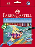 #9: Faber-Castell Design Series Aquarelle Full Length Water Color Pencils - 48 Shades