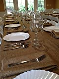 Polyester Prairie Burlap Tablecloth (wheat, 60x144 Rectangle) by LinenLovers