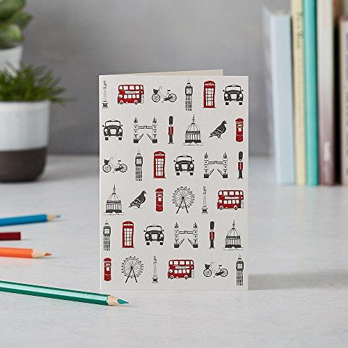 Victoria uova icone di londra cartolina di auguri