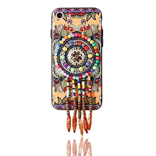 Glatte Korn (Kingko® Nationale eingelegte Schmucksache Fall Exotische Art und Weiseboutique Korn Telefon Kasten Abdeckung für iPhone 7 4.7 Zoll (B))