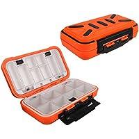 Goture Grande Caja de Aparejos de Pesca Gancho Giratorio de Señuelo de Cebo de plástico de Almacenamiento, Medium/Orange
