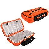 Goture plastica attrezzatura da pesca scatola l' esca gancio girevole ruota grande portaoggetti, Medium / Orange