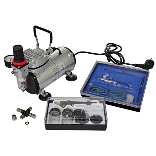 Wiivilik vidaXL Kit de compresseur d'aérographe avec 2 Pistolets