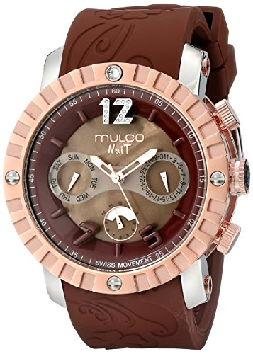 MULCO Unisex MW5-1876-033 Nuit Lace XL Analog Display Swiss Quartz Brown Montre