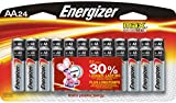 Energizer Max Alkaline AA Battery, 24-Co...