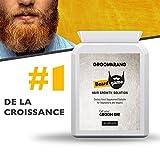Gélulle concentrée en Biotine pour pousse barbe – Groomarang 'Beard Game' Beardilizer – Produit barbe Végan pour faire pousser et densifier votre barbe