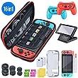 BEBONCOOL Custodia per Nintendo Switch Kit Accessori 16 in 1 per Nintendo Switch Protettiva Case con Custodia da Trasporto /TPU Custodia/Pel …
