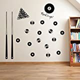 Pool Balls, American Pool Set Wall Decorations Window Stickers Wall Decor Wall Stickers Wall Art Wall Decals Stickers Wall Decal Decals Mural Décor Diy Deco Removable Wall Decals Colorful Stickers