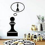 xingbuxin Autocollants de décalcomanie d'art de Mur d'échecs créatifs pour la décoration de Salle de séjour matériel de PVC Amovible Papier Peint Adesivo De Parede Noir XL 57 cm X 75 cm