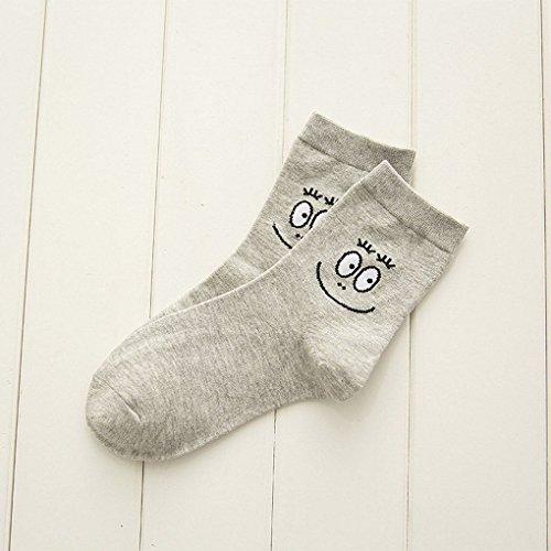 Mengonee Frauen-Mädchen-Cartoon Lächeln Gesicht Print-beiläufige Sport-Knöchel-Socken -