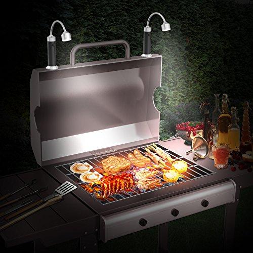 51WDK0QqP8L - FIREOR Grill Licht, Magnetische BBQ Licht Flexibel Grilllampe Outdoor Grill Lichter BBQ Zubehör Werkzeuge Set (2 Pack, Schwarz)
