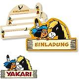 6 Einladungskarten * YAKARI * für Kinderparty und Kindergeburtstag von DH-Konzept // Indianer Indianerjunge Sioux Kleiner Donner Einladungen Invites Party Set