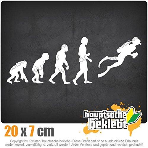 Evolution Taucher Schnorcheln 20 x 7 cm IN 15 FARBEN - Neon + Chrom! Sticker Aufkleber