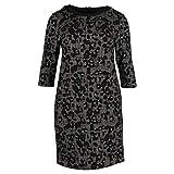 BARBARA LEBEK gemustertes Kleid Größe 46, Farbe schwarz