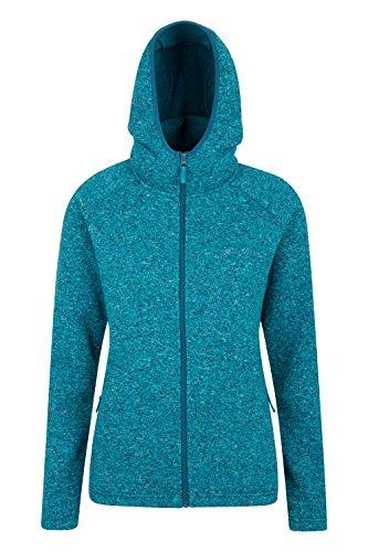 Mountain Warehouse Nevis Damen Kapuzenpullover Fleece Hoodie Kapuzenjacke Reißverschluss warm bequem weich Grün DE 44 (EU 46) (Allein Kapuzen-sweatshirt)