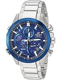 5825c7b62d54 Casio - Reloj informal de acuerdo de acero inoxidable Edifice Solar  Connected
