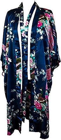 Bademantel Robe Wäsche -Nachtabnutzung Kleidbrautjunfer Junggesellinnenabschied (Navy blau (Navy Blue))