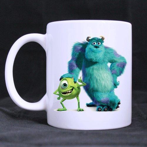 Fantastique Mug Monsters University Mike et Sulley personnalisés Mug à café ou Tasse à thé, Matériau Céramique Tasses, Blanc DIY Tasses