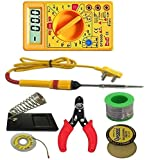 Electrade 7in1 Electric Soldering Iron Stand Tool Wire Stripper Welding Stick Kit