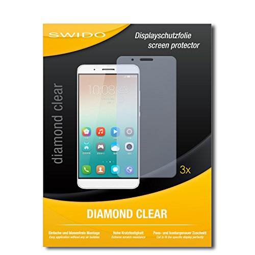 SWIDO 3 x Schutzfolie Huawei Honor 7i Bildschirmschutz Folie DiamondClear unsichtbar