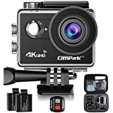 Action Camera Campark ACT73R 4K WiFi Waterproof Camera 2 Inch LCD Screen 170 Degree Wide Angle,Remote Control 2 Pcs Rechargeable Batteries And Portable Package