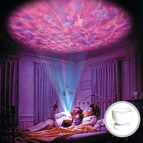 Colorfulworld® LED Mood Light Music ocean-wave Projektorlampe Aurora Romantische Deckenleuchte Nacht Projektor Licht 7 Farben Farbwechsel - Wave Bad Licht