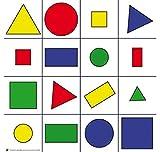 Bee-Bot - Bodenmatte mit geometrischen Formen Bodenroboter, Kinder Roboter, Bewegungsabläufe, Logikspiele - Lernroboter programmierbar Befehle Problemlösekompetenz Schule Grundschule Kindergarten