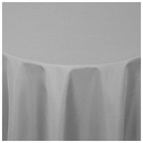 Moderno® Textil Tischdecke Uni Design | oval 140x190 cm in Grau Damast | Eckig Oval Rund Größe und Farbe wählbar