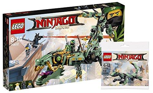 Lego Ninjago 70612––Mech Dragón del ninja verdes + Lego 30428verde Ninja Mech Dragón Ninjago Movie Bolsa, entretenimiento juguete