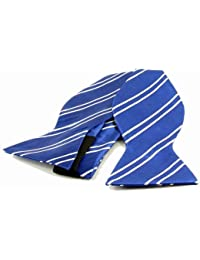 Self-tie Bow Tie Blue with white stripes