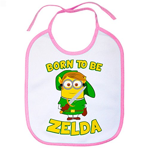 Babero Born To Be Zelda Minion - Rosa