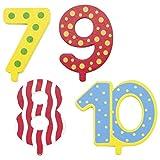 Die LuLuGoS Goki Geburtstagszug Zahlen 1-10 10er Set Kerzen weiß - 4