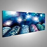 islandburner Bild Bilder auf Leinwand Poker Chips auf einem Spieltisch mit dramatischer Beleuchtung Verschiedene Formate ! Direkt vom Hersteller ! Bilder ! Wandbild Poster Leinwandbilder ! FTY