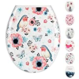 JOTOM Premium Quality Toilet Seat,Easy to Mount,Beautiful Printed Design Toilet Seats for Bathroom