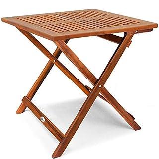 Deuba Gartentisch Klapptisch Akazie Holz I 70 x 70cm I Klappbar Beistelltisch Holztisch Campingtisch Balkontisch Garten