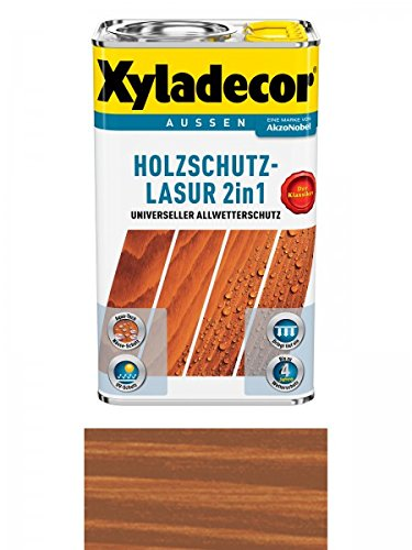 Xyladecor Holzschutzlasur 2in1 Aussen, 5 Liter, Farbton Kastanie