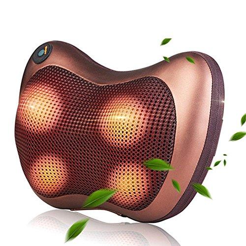 OOFYHOME Nackenkissen Massage-Premium Shiatsu Massagekissen mit Wärme-beruhigendem Shiatsu Kissen für Nacken / Rücken / Schultermassage