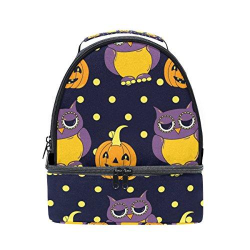 len und Kürbisse Lunch Bag Isolierte Lunch Box Picknick Tasche Schule Kühltasche für Männer Frauen Kinder ()
