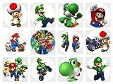 12 Stück Muffinaufleger Muffinfoto Aufleger Foto Bild Super Mario Bros (28) rund ca. 6 cm *NEU*OVP*