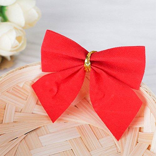 MingXiao Weihnachtsbaum Tie Bow Xmas Ornamente Hübsche 6,2 * 5 cm 24 Stücke Natal Dekorationen (Topper Tree Bow)