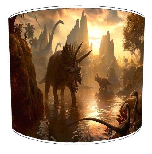 Premier de arroz–mesa diseño de dinosaurios Escena Infantil Lámpara, plástico metal, Varios Colores, 30,5 cm