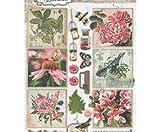 Aktenvernichter A4 Romantischen Botanischen No. 588, Studio-Licht, Dekorativer Aussparungen, Bedruckte Papiere, Scrapbooking