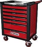 KS Tools 826.1007 RACINGline+ SCHWARZ/ROT Werkstattwagen mit 7 Schubladen